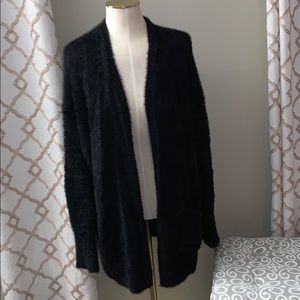 Forever 21 open Fuzzy Long Sleeve Cardigan